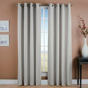 BEACHCREST HOME Gleason Grasscloth Curtain Panel